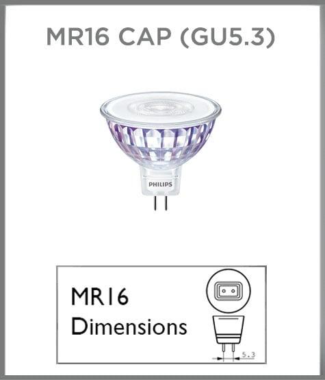 MR16 cap