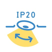 adjustable IP20 downlight type