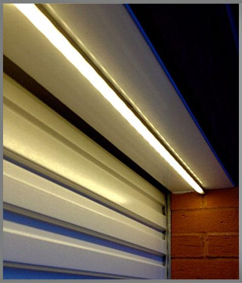 led rail garage lighting example