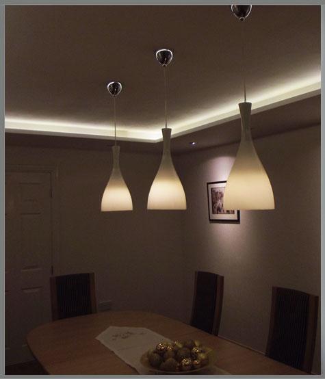 kitchen illuminated pelmet lighting