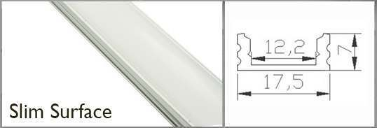 Thin Surface profile rail for LED tape