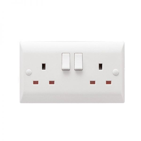 Hamilton Vogue Switched Socket 2 Gang 13A DP