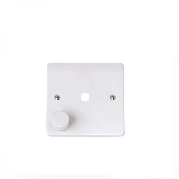 Dimmer Switch Plate 1 Gang White PVC Click Scolmore