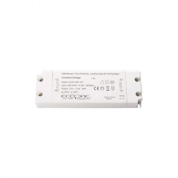 Ecopac TRIAC Dimmable Constant Voltage 30W LED Drivers