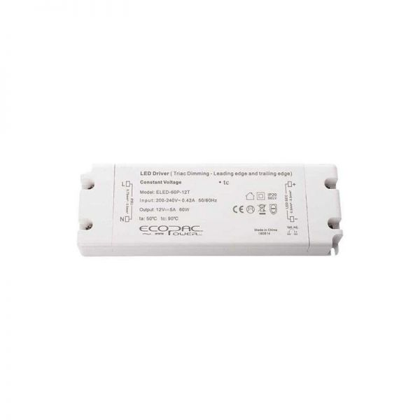 Ecopac TRIAC Dimmable Constant Voltage 60W LED Drivers