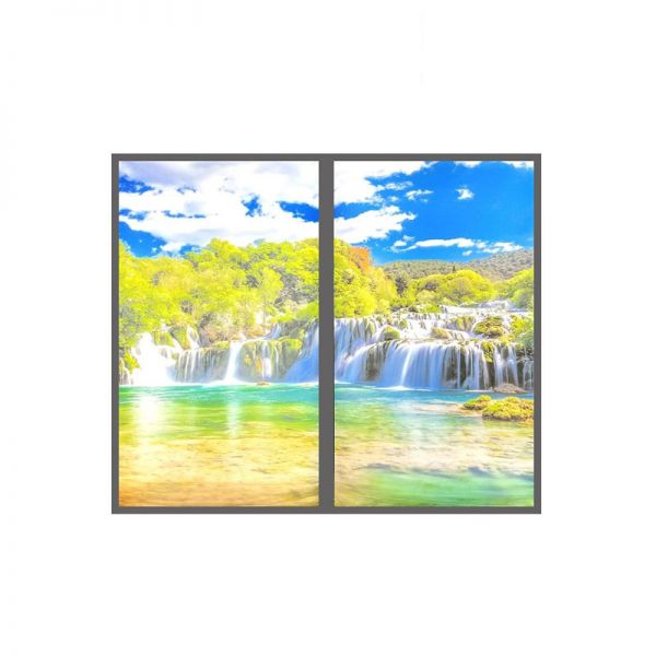 Ener-J Landscape Surface Wall LED Panel With Waterfall (Set of 2)